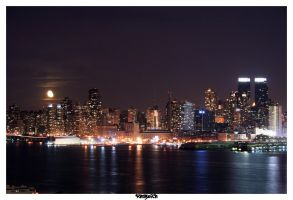 moon over midtown by Sangwich