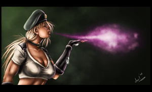 Sonya Blade - Kiss of Death by KarlaCr0me