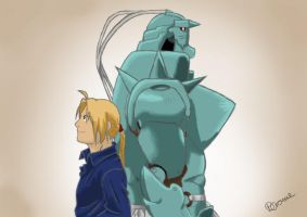 Edward and Alphonse Elric by BeckyCrowe