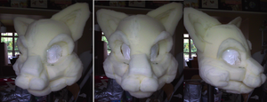 Loka Fursuit WIP 1 by therougecat