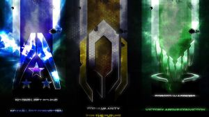 Mass Effect Tri-Emblem Wallpaper by aburame91