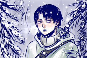 Rivaille lost in winter forest by hyokka