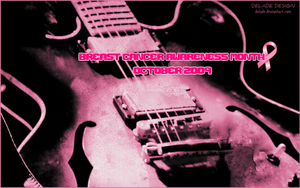 Breast Cancer Awareness Guitar by delade