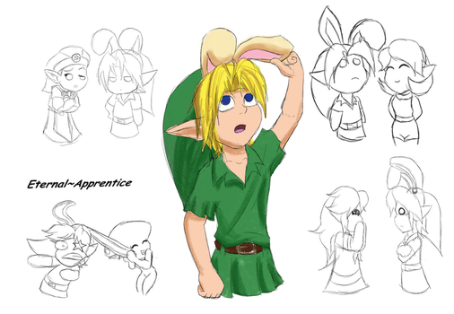 Zelda Easter Doodles by Eternal-Apprentice