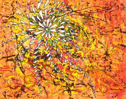yellow mess vortex pollock cosmos by santosam81