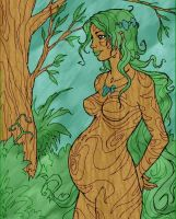 Pregnant forest girl Colors by Asderathos