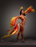 Phoenix Costume for WBFF Competitor Chelsea Webb by LuxCostumeDesign
