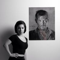 Me and my Norman Reedus drawing by PriscillaW