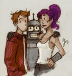 spontaneous futurama fanart by cozyfire