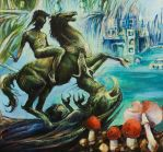 George and Dragon-part acrylic by masiani