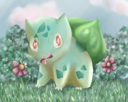 Pokemon - 001 Bulbasaur by jackzarts