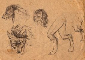 Worgen sketches by Shaiyeh