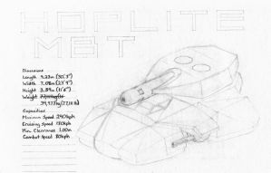 """UCF: Mk31 MBT """"Hoplite"""" by ChapterAquila92"""