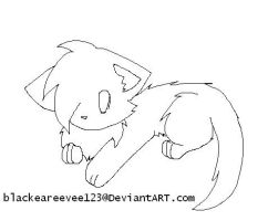 Kitten lineart FREE TO USE by BlackEarEevee123