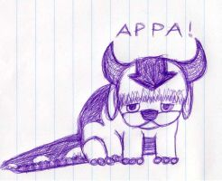 Appa, the Flying Sky Bison by qwerty1198