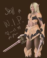 Elf WIP- Still.. by kurisutin