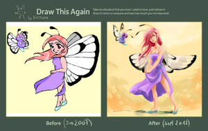 Draw this again - Lady Butterfree by D-Kitsune