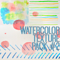 Watercolor Texture Pack # 2 by fraffee