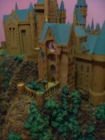 Hogwarts Castle Paper Model - The Clock Tower by ana-wandmaker
