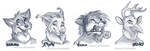 Twitter headshot sketches Part 3 by SilverDeni