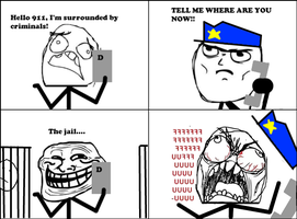 Calling 911, But Wait... -Rage Comic- by Albowtross91