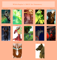 2013 Art Summary by Whitelupine