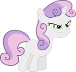Sweetie Belle is Having None of Your Sass by elegantmisreader