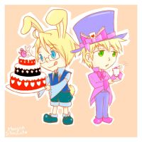 The Mad Hatter and March Hare by MorganStardust