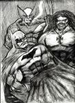 Lobo, Wolverine and The Dark Knight by MisterHydesSon