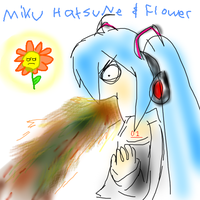Miku + Flower by NaviStarfire