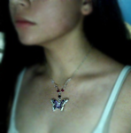 Purple Butterfly Necklace by Coffu