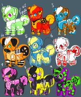 Puppys for sale sheet 1 by LadyHyena