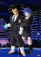 OC : Lace and Vegeta by Maniaxoi