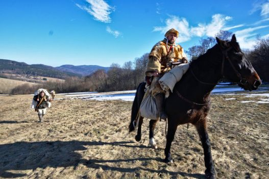 The richman rides and the poor man... by MedievalJunkie