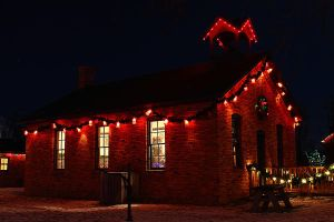 Christmas Schoolhouse by S-H-Photography