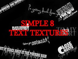 Simple Text Textures by Meimei12