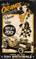 Orange Dragstrip Poster by blitzcadet