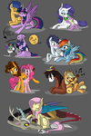 Mane 6 Ships by TurrKoise