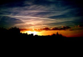Burning sky by amel0u