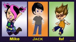 TFP Kids: Miko, Jack and Raf by PDJ004