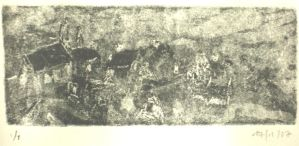 etchings from Quimper 1 by Anna-Maija