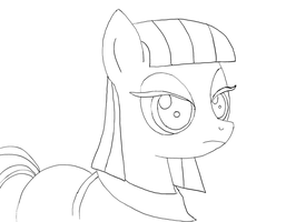 Maud Pie (Inked) by FeralDrive