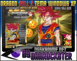Goku SSJ God Theme Windows XP by Danrockster