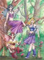 The Fates - Faeries by Wulfemoon