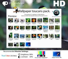 Wallpaper Toucans Pack HD by CaHilART