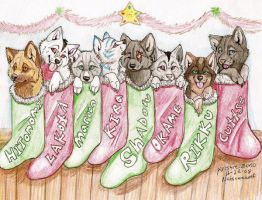 Puppy Stocking Stuffers by NatsumeWolf