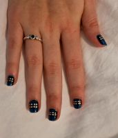 TARDIS Nails by 1-Lilith-1