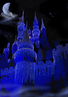 Castle in Deep Blue Background by WDWParksGal-Stock