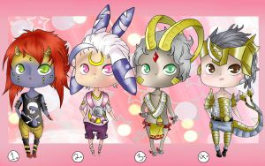 Digimon Gijinka Adopts - Closed! by Decora-Adopts