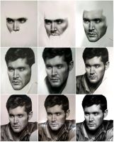 Dean Winchester|Jensen Ackles process by MaryMaryLP